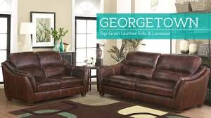 what is top grain leather sofa georgetown 2 piece top grain leather set sofa and loveseat