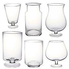 Clear Glass Vases With Lids Tall Glass Vases Ebay
