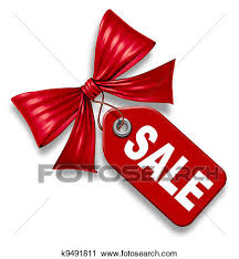 clipart of sale price tag with ribbon bow tie k9491811