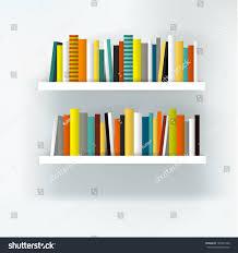 Modern White Bookcases by Book Shelf Interior Modern Furniture Design Stock Vector 159931946