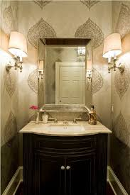 Small Decorative Bathroom Ideas With Chocolate Brown Vanity And