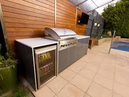 outdoor kitchen modular outdoor kitchen with chrome grill