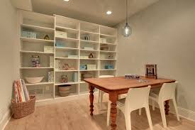 basement shelving basement traditional with hobby room traditional
