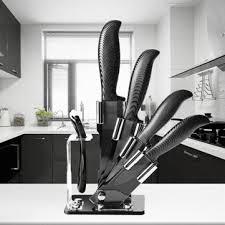 black kitchen knives kcasa kf 2 5 pieces black blade ceramic knife set multi function