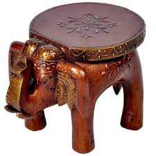 Solid Wood Furniture Online India Little India Designer Wooden Elephant Stool Handicraft 17 78 Cm X