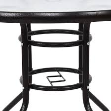 patio round table steel frame dining table outdoor tables
