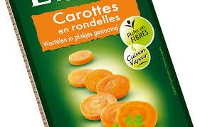 cuisiner des carottes en rondelles carottes lamelles 500g cuites sous vide à la vapeur lunor
