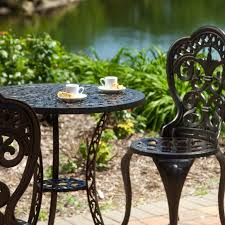Cast Iron Patio Furniture Sets - wrought iron patio furniture foot pads home decorating ideas