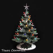santa is coming tonight green ceramic tree 18 inch
