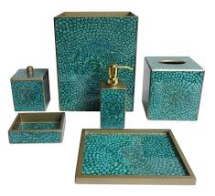 design ideas teal bathroom set decor etsy sets accessories