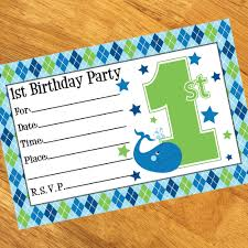 fill in 1st birthday party invitations