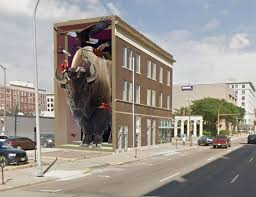 Mural Designs by Downtown Mural Designs Feature 3 Story Bison Local Landmarks