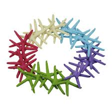 ljy 25 pieces white resin pencil finger starfish for wedding decor