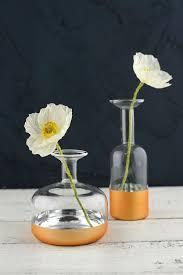 4x4 Glass Vase Dipped Bud Vase 4x4 25in Profile Bottle
