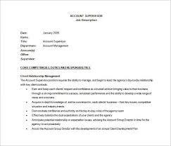 Hotel Front Desk Supervisor Job Description 10 Supervisor Job Description Templates U2013 Free Sample Example