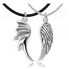 angel necklace images Wholesale devil and angel necklace korea wings couple necklace jpg
