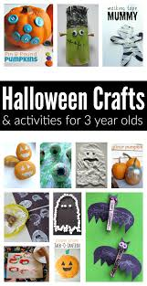 easy halloween crafts and activities for 3 year olds no time for