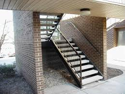 modern stair railings outdoor metal stair railings image 44