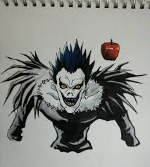 drawing of ryuk from death note album on imgur