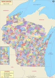 Southeastern Usa Map by Wisconsin Zip Code Map Wisconsin Postal Code