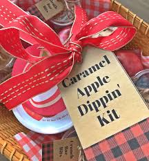 Caramel Apple Party Favors Michelle Paige Blogs Caramel Apple Dipping Kit With Printable Tags