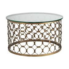metal round coffee table elegant rustic coffee table on glass top