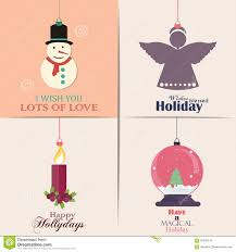 Invitation Cards For Christmas Set Of Christmas Cards With Winter Home Xmas Tree Snow Globe