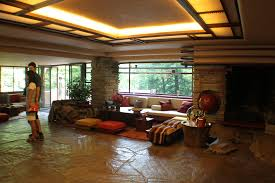 interior fallingwater hours frank lloyd wright houses book