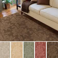 Area Rugs 9 X 12 Hand Loomed Tone On Tone Otero Floral Wool Area Rug 9 U0027 X 12