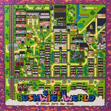 Map Of Brooklyn Ny Super Mario World Map Of Bushwick Brooklyn Ny Pete U0027s Basement