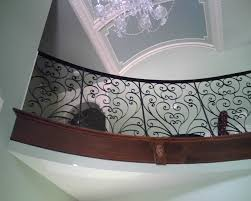 Wrought Iron Railings Interior Stairs Winsome Interior Wrought Iron Railings Featuring Black Stained