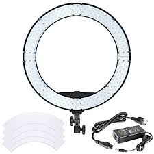neewer led ring light neewer 18 inches 55w led ring light dimmable bi color lighting kit