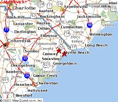 sc map map of myrtle sc my