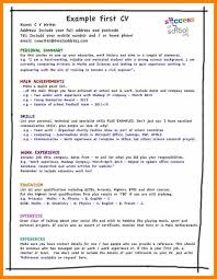 10 cv examples uk student proof of working