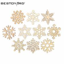 10pcs assorted wooden snowflake cutouts craft embellishment
