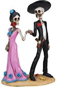 day of the dead wedding cake topper dod wedding skeleton collectible sculpture