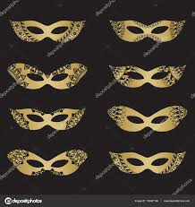 halloween masquerade background gold masquerade mask silhouettes u2014 stock vector werta w 133401196