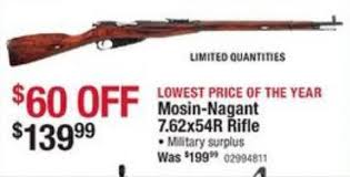 cabelas black friday sale mosin nagant 7 62x54r rifle 139 99 black friday 2014