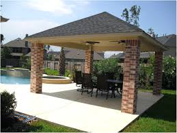 patio ideas gable roof patio cover with wood stained ceiling