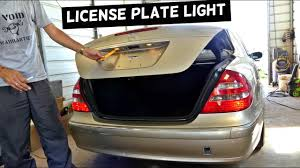 mercedes light replacement mercedes w211 tag light license plate light bulb replacement