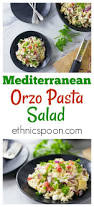 mediterranean orzo salad recipe analida u0027s ethnic spoon