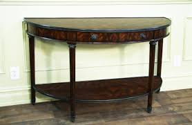 Mahogany Console Table Bowfront Mahogany Console Table With Brass Accents