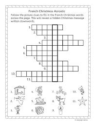 french christmas noel fun activities worksheets word wall