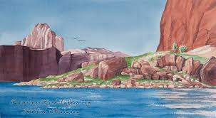 lake powell i watercolor painting