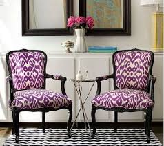 Ikat Armchair Purple Chairs