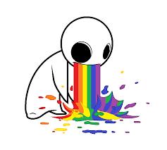 Throwing Up Rainbows Meme - cutely evil rainbow puke by werewolf9595 on deviantart