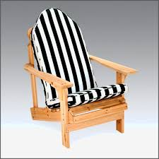 masculine black and white stripe outdoor cushions for adirondack