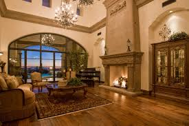The Living Room Scottsdale Newly Built Spanish Colonial Estate In Scottsdale Az Homes Of