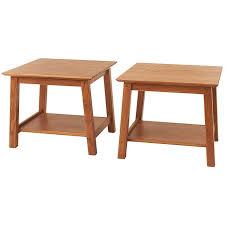 golden oak end tables set of bunching end tables solid wood furniture manchesterwood com