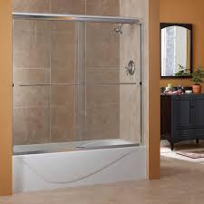 cove 1 4 u2033 frameless sliding tub doors foremost bath